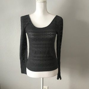 American Eagle Outfitters Gray Long Sleeve Top